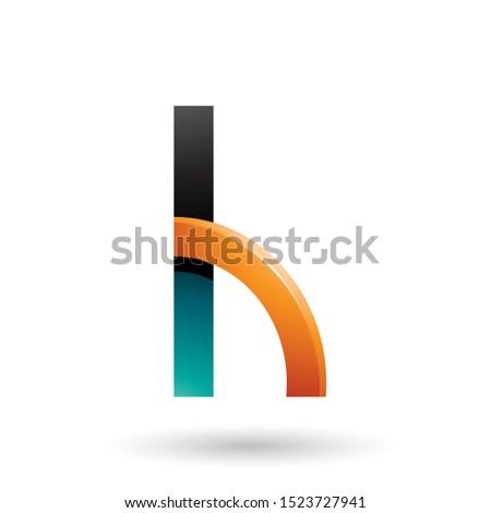 Vert orange lettre h trimestre cercle Photo stock © cidepix