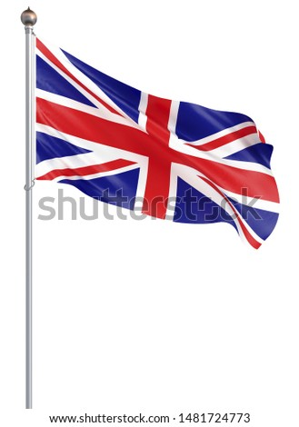 Stock photo: flag EU and  Great Britain on white background. Isolated 3D illu