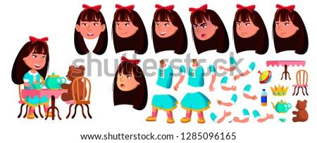 ázsiai lány óvoda gyerek vektor animáció Stock fotó © pikepicture