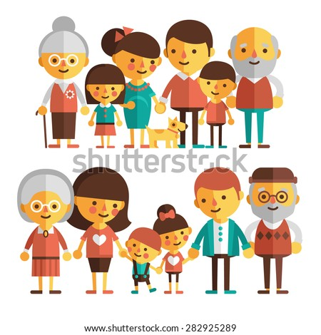 Caucasian Generation Male Vector. Grandfather, Father, Son, Grandson, Baby Vector. Isolated Illustra Stock photo © pikepicture