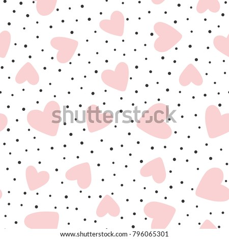 Soyut kalpler lekeli valentine el Stok fotoğraf © Imaagio