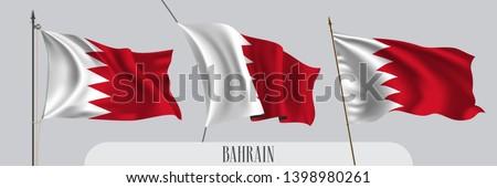 Bahrein piros fehér integet zászló ikon Stock fotó © MarySan