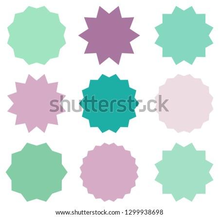 Conjunto vetor símbolos de violeta cores Foto stock © Pravokrugulnik