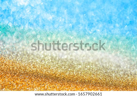 Shining water texture of beach sand background. Trend photography in the new color of the year 2019  Stock photo © artjazz
