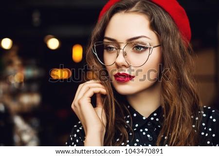 портрет внутри красивой ярко макияж Сток-фото © studiolucky