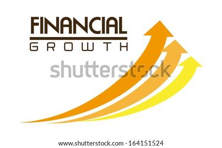 trois · financière · croissance · blanche · illustration - photo stock © kyryloff