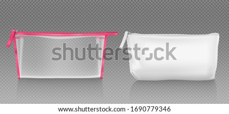 Plastic Zipper Vector. Transparent Zip Wrap. Empty Product Polyethylene Mock Up Template. Nylon Doy  Stock photo © pikepicture