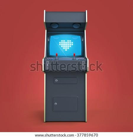 Vintage Arcade Machine Stock photo © albund