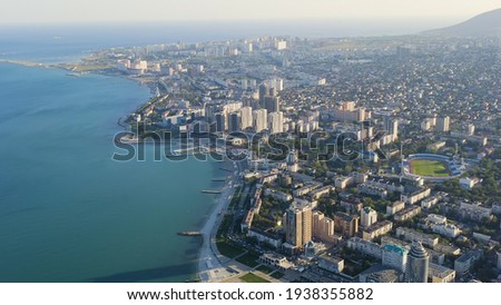Panorama Ansicht schwarz Meer Port Stadt Stock foto © artjazz