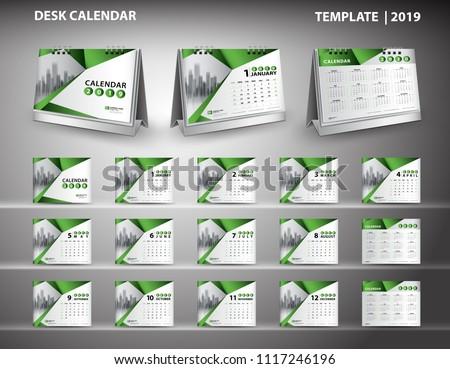 einfache · Kalender · Layout · Jahre · Woche - stock foto © olehsvetiukha