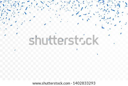 Blue confetti. Celebration carnival ribbons. Luxury greeting card. Vector illustration stock photo © olehsvetiukha