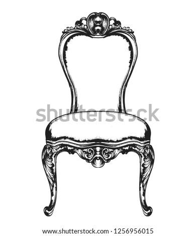 barokk · bútor · gazdag · fotel · királyi · stílus - stock fotó © frimufilms