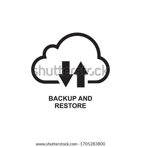 雲のアイコン ダウン バックアップ データ 雲 ストックフォト © kyryloff