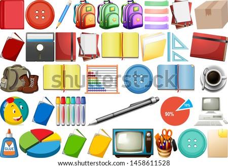 Kantoor huishouden speelgoed sport uitrusting geïsoleerd Stockfoto © bluering