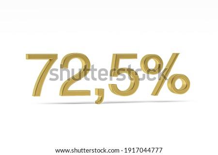 Stockfoto: Twee · procent · witte · geïsoleerd · 3D · 3d · illustration