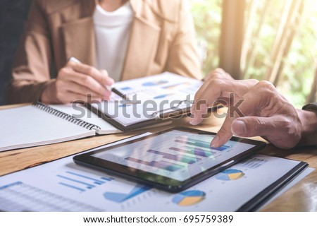 Co working conference, Business team meeting present, investor c stock photo © Freedomz