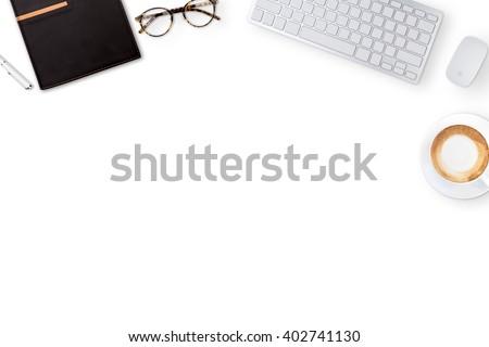 Kalkulator · zwarty · odizolowany · biały · biurko - zdjęcia stock © galitskaya