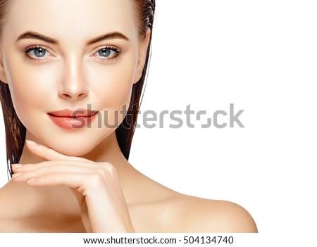 Stockfoto: Mooie · vrouwelijke · oog · schone · huid · dagelijks