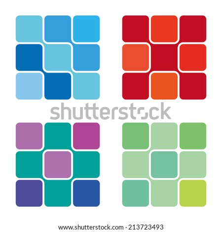 molecule vector square logo template . Computer science and engineering concept icons. Vector illust Stock photo © kyryloff