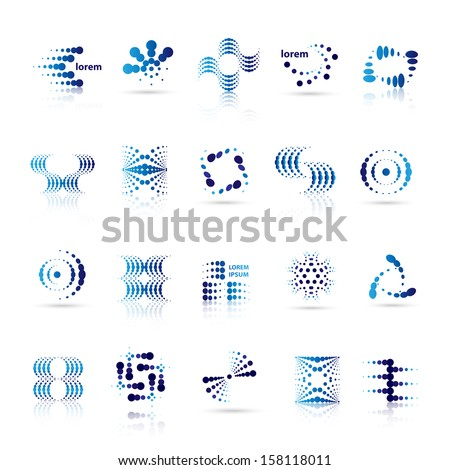 Square Molecule Vector logo design element. Connected dots Abstract shape. Stock Vector illustration Stock photo © kyryloff