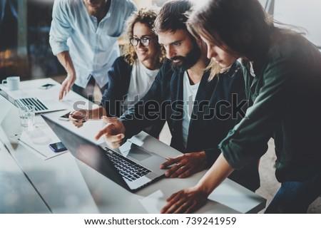 команде процесс Бизнес-партнеры заседание новых Сток-фото © Freedomz