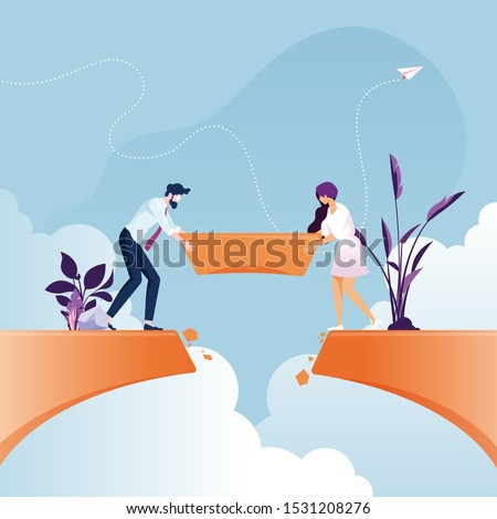 teamwork process business team two managers colleagues discussi stock photo © freedomz