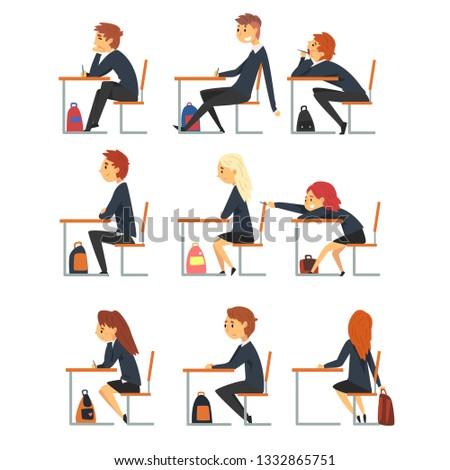 Vista lateral femenino maestro sesión silla lectura Foto stock © wavebreak_media