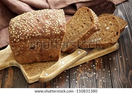 Cut свежие буханка хлеб Сток-фото © DenisMArt