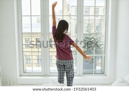 フロント 表示 幸せ 若い女性 腕 ストックフォト © wavebreak_media