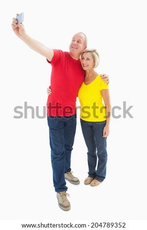 Seitenansicht tätig Senior Frau Aufnahme Handy Stock foto © wavebreak_media