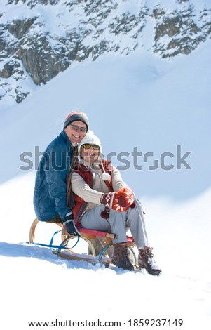 Front view of happy senior couple with hand clasped looking at camera in nursing home  Stock photo © wavebreak_media