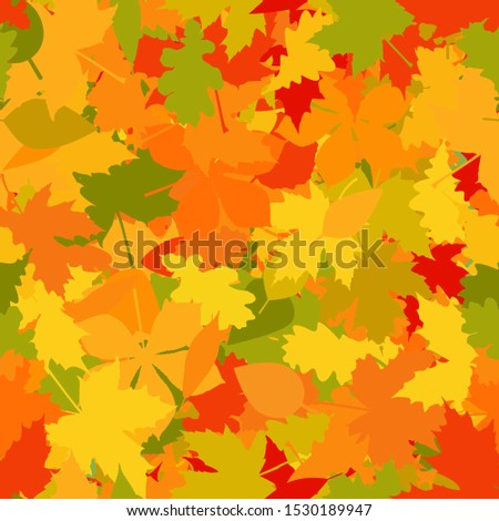 Autumn Colored Leaves Seamless Repeating Pattern Isolated Vector Illustration Stock photo © jeff_hobrath