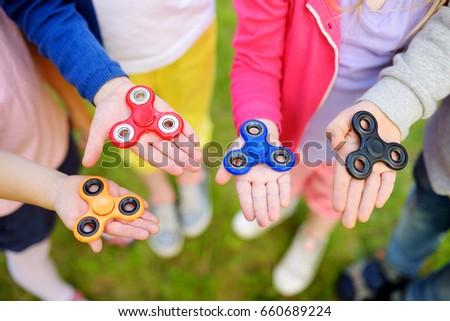 Jongen spelen kind speeltuin wazig meisje Stockfoto © galitskaya