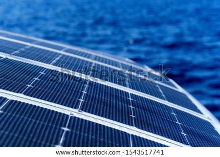 Közelkép kilátás napelem dokk vitorlás kék Stock fotó © amok