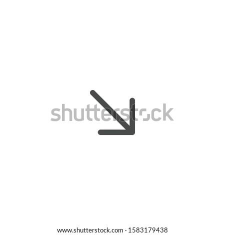 Web Arrow Down Icon, 45 degrees decline arrow. Stock Vector illustration isolated on white backgroun Stock photo © kyryloff