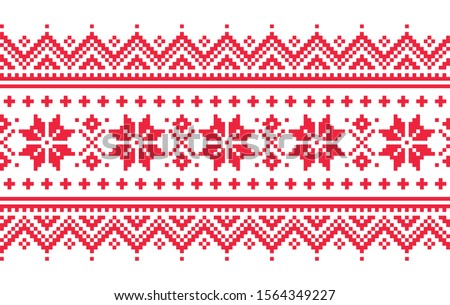 Navidad sin costura vector largo patrón repetitivo Foto stock © RedKoala