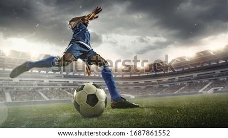 Calcio calcio calci giovani giocatore movimento Foto d'archivio © matimix