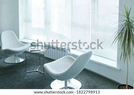 белый удобный стульев окна внутри Сток-фото © pressmaster