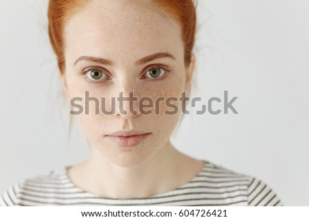Close-up of happy gorgeous young Caucasian woman looking away from beach hut. She is smiling Stock photo © wavebreak_media