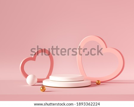 Valentines Day sale background. Romantic composition with hearts. Vector illustration for website ,  Stock photo © ikopylov