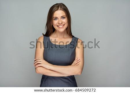 Uno bella sorridere donna d'affari ritratto Foto d'archivio © Lopolo