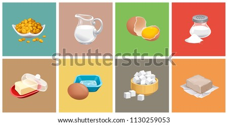 Glass bowl of natural white refined sugar with cubes with silver spoon on light table background wit Stock photo © DenisMArt
