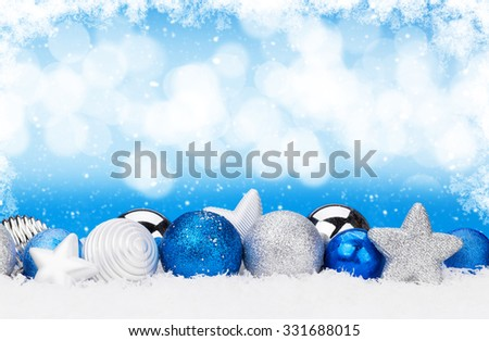 Christmas holiday background, festive baubles and purple vintage Stock photo © Anneleven
