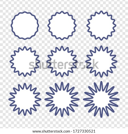 Set of badges - Big set of vector graphic circle frames for design Stock photo © Zsuskaa