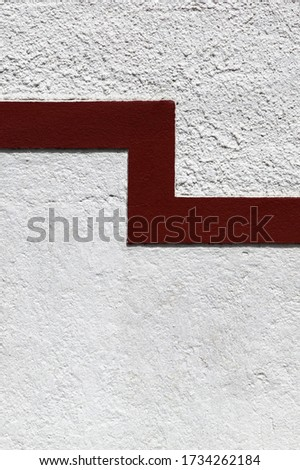 Red line on a white facade as a divider between grades of coarse Stock photo © boggy