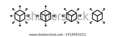 Logistics or delivery logo template. arrows in different directions. Express money, internet digital Stock photo © kyryloff