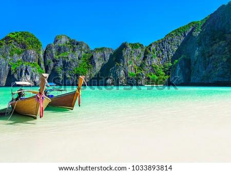 Maya bay on Phi Phi Leh island Stock photo © bloodua