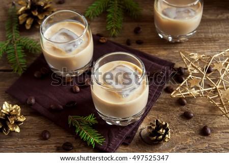 ирландский кремом ликер стекла кофе Сток-фото © DenisMArt