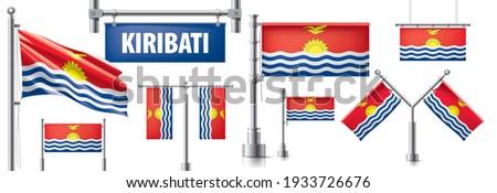 Vector set of the national flag of Kiribati in various creative designs Stock photo © butenkow
