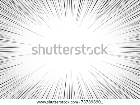 Set of black and white, gray radial lines comics style background. Manga action, speed abstract. Vec Stock photo © designer_things